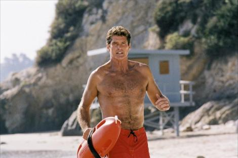 Just like the old days: The Hoff will be starring as himself in the new Baywatch film