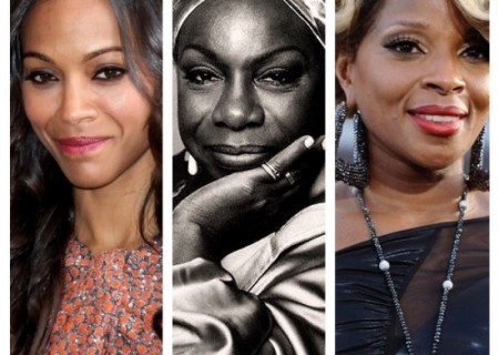 Zoe Saldana (left) will replace Mary J. Blige (right) to play Nina Simone in the upcoming biopic Nina.
